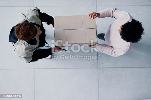 1053001624istockphoto Your package is here and on time 1053001626
