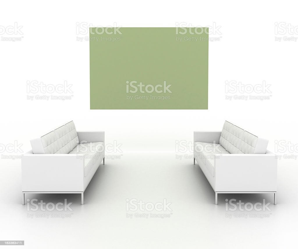 Your personal art gallery (front view, isolated on white) stock photo