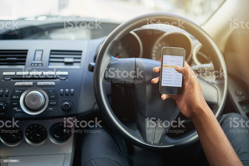 Your phone can wait…your life can't stock photo