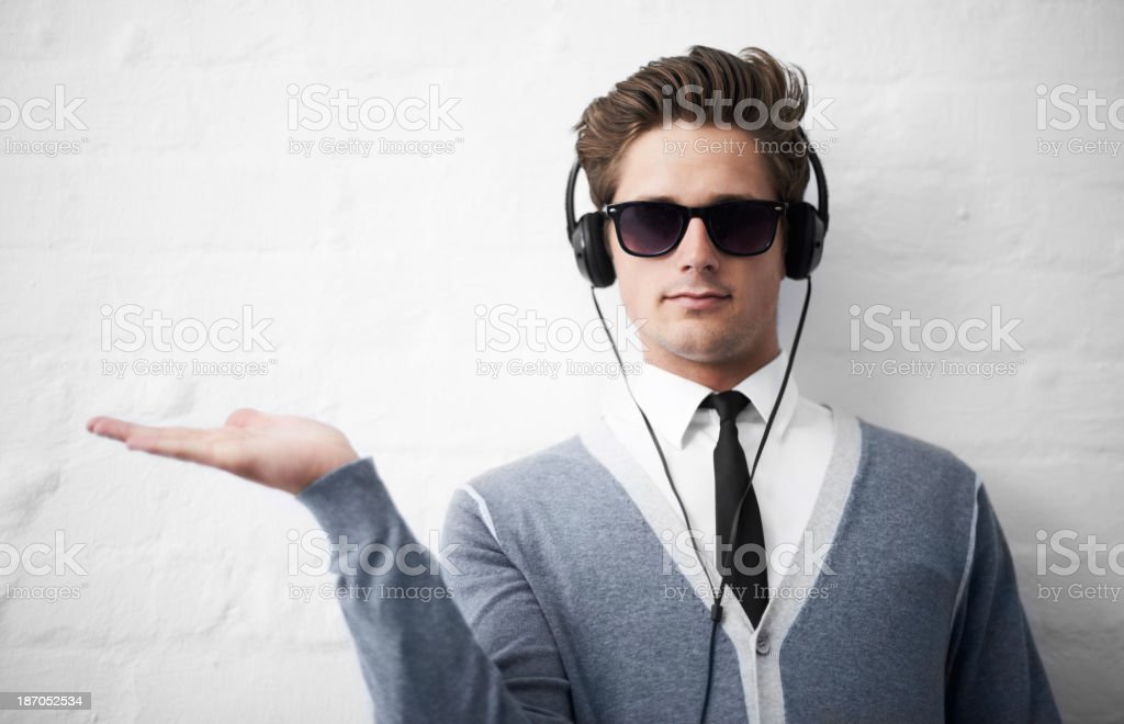 Your product is in his capable hands stock photo