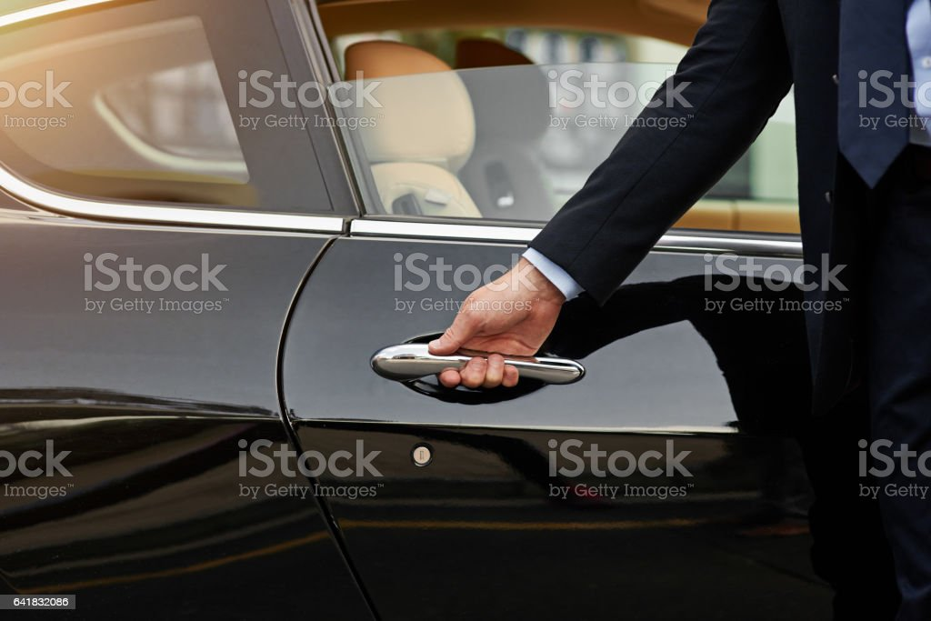 Your ride is here... stock photo