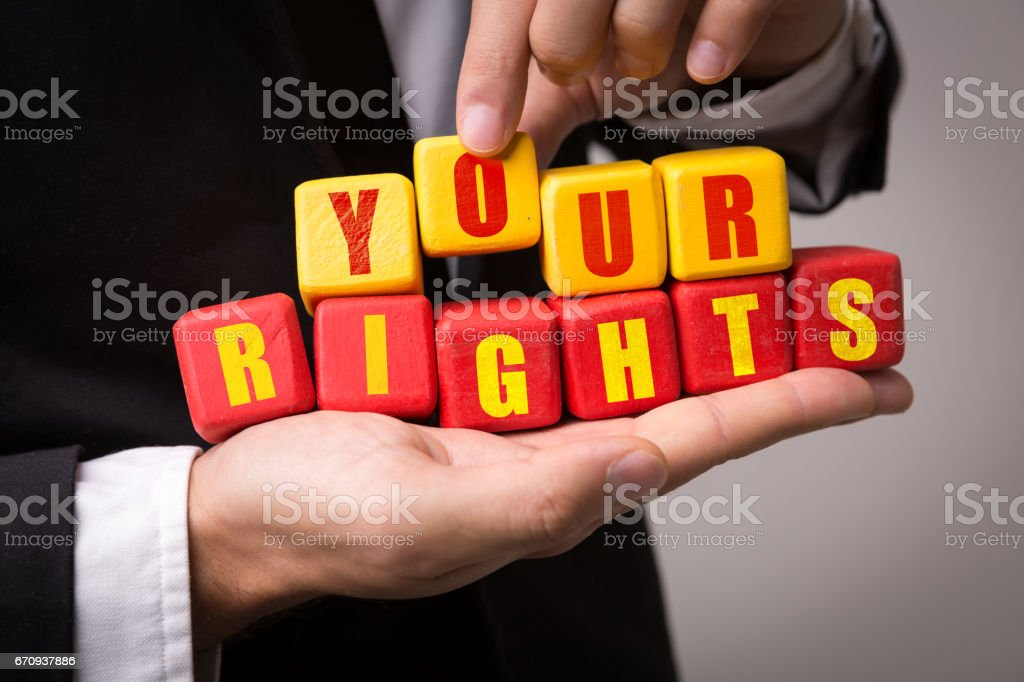 Your Rights stock photo