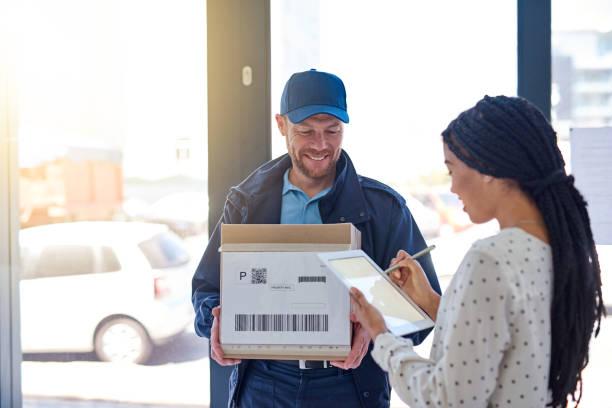 your signature is all i need - postal worker стоковые фото и изображения