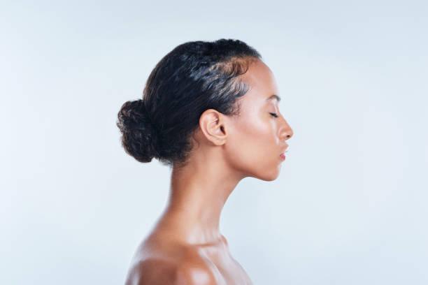 din hy är en stor del av vem du är - kvinna ansikte glow bildbanksfoton och bilder