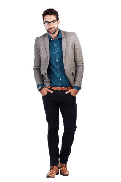 Your style speaks of who you are Studio shot of a handsome young man posing against a white background blazer jacket stock pictures, royalty-free photos & images