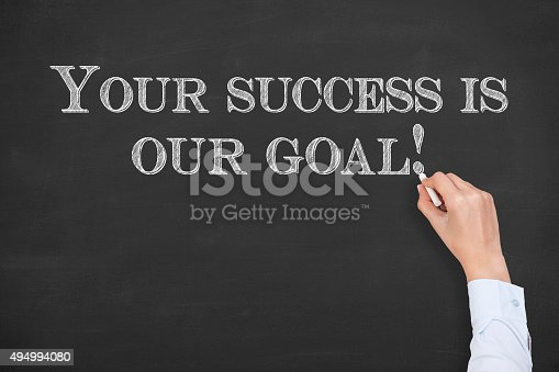 istock Your Success Is Our Goal on Chalkboard 494994080