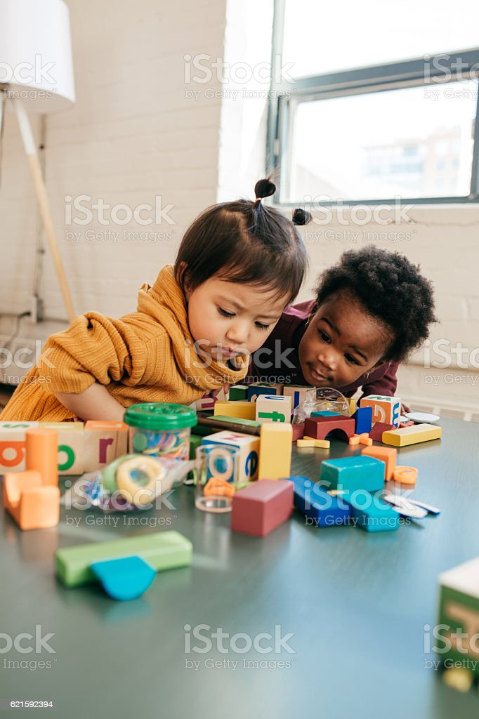 Your toddler growing vocabulary stock photo