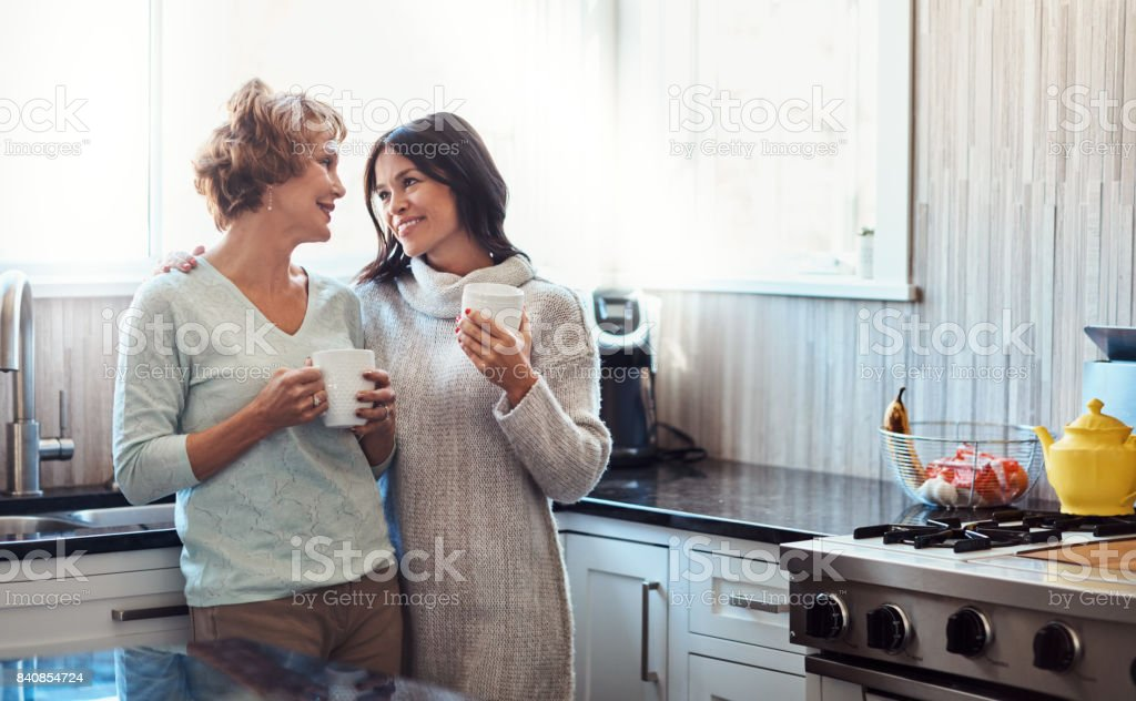 Your visits mean so much to me, Mom stock photo