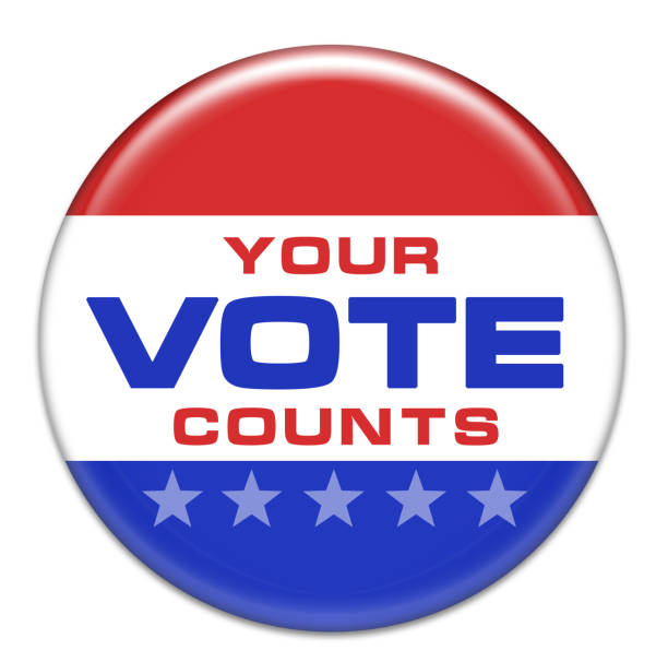 Your Vote Counts - Election badge stock photo