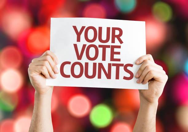 votre vote compte - vote photos et images de collection