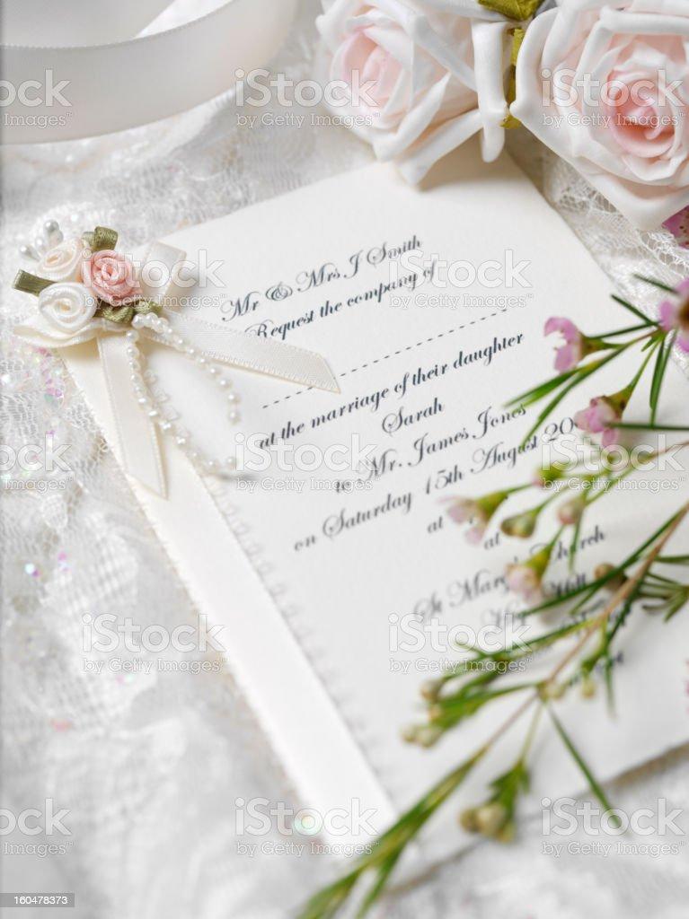 Your wedding Invitation stock photo