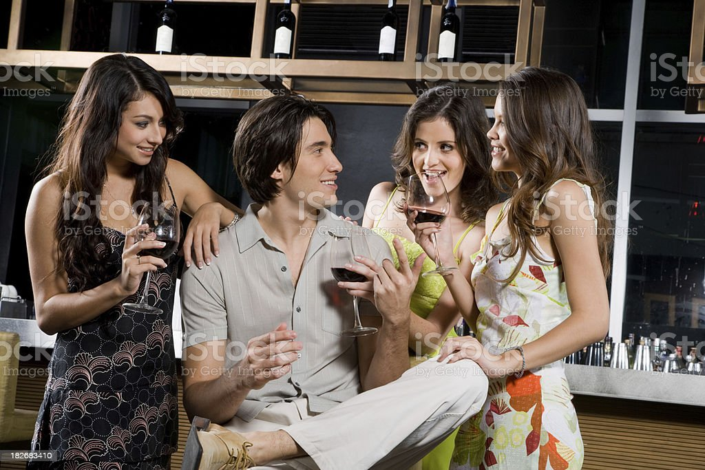 Your Wine Or Mine? royalty-free stock photo
