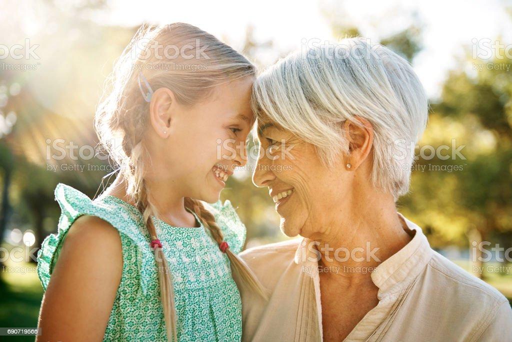 Du bist eine Freude in mein Herz - Lizenzfrei Großmutter Stock-Foto