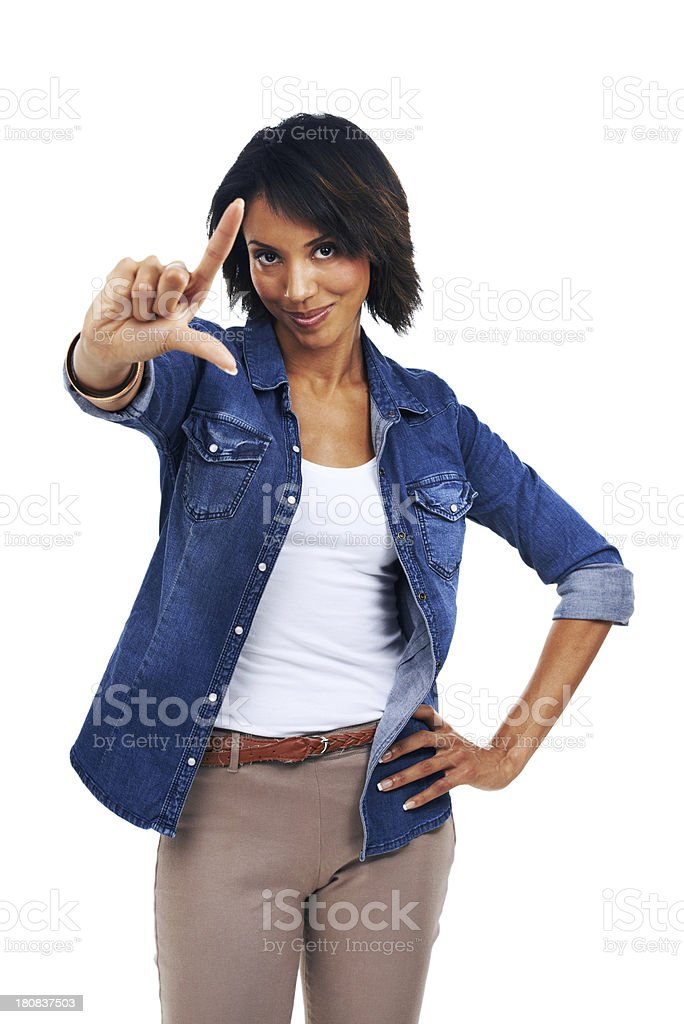 You're a loser stock photo