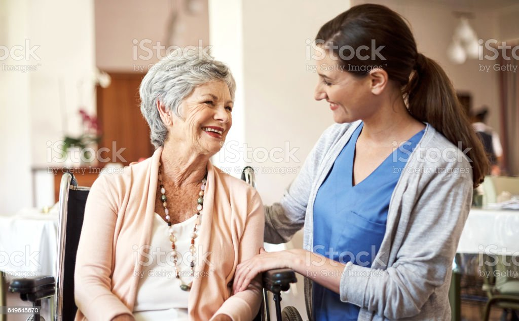 You're definitely looking much better today stock photo