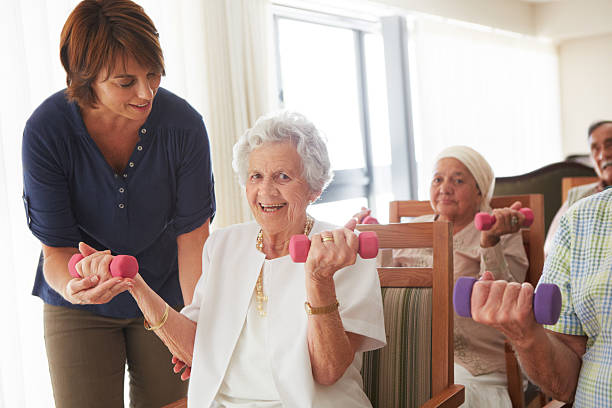 You're doing great for your age! stock photo