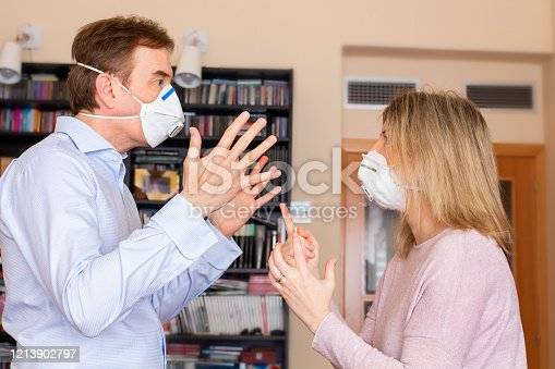 Couple's quarrel in quarantine
