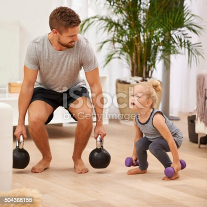 istock You're getting so strong! 504368155