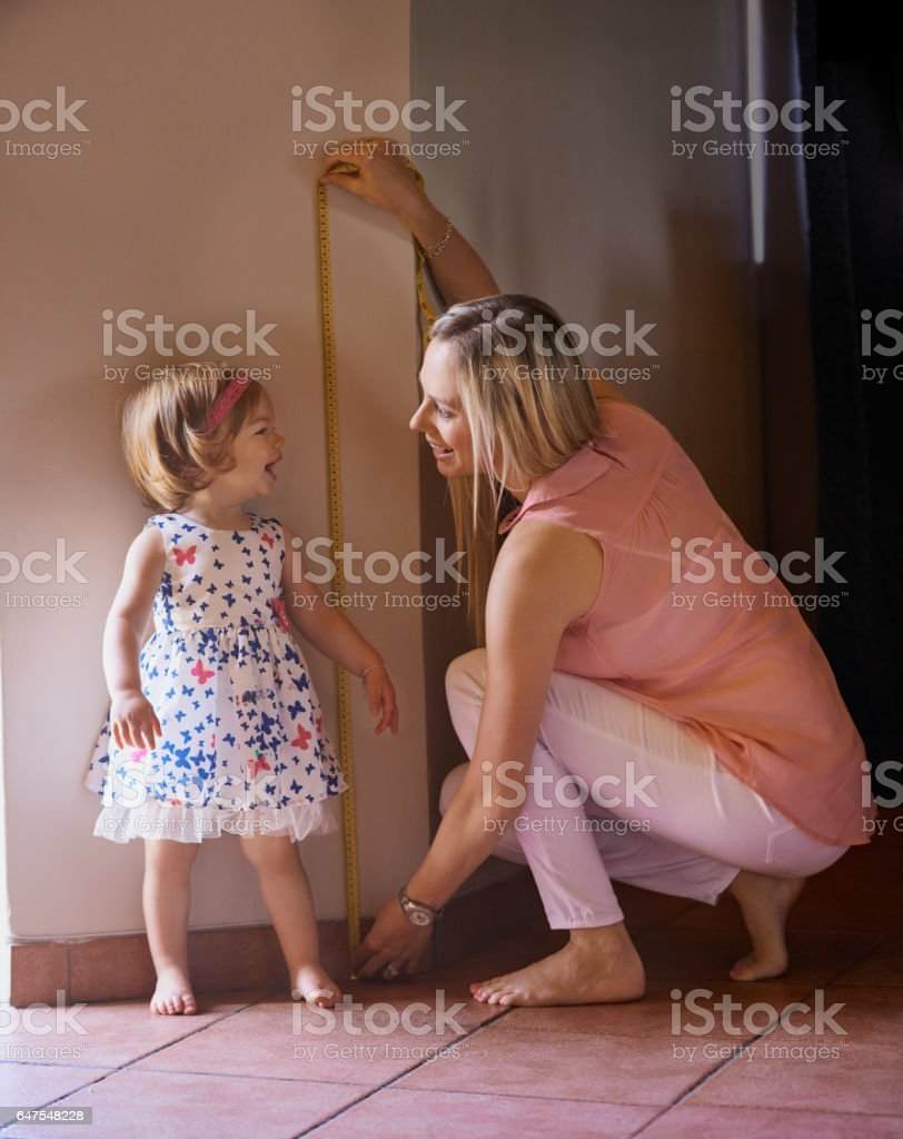 You're growing up so fast! stock photo