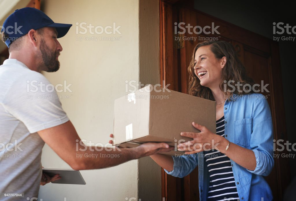 You're here quicker than I expected stock photo