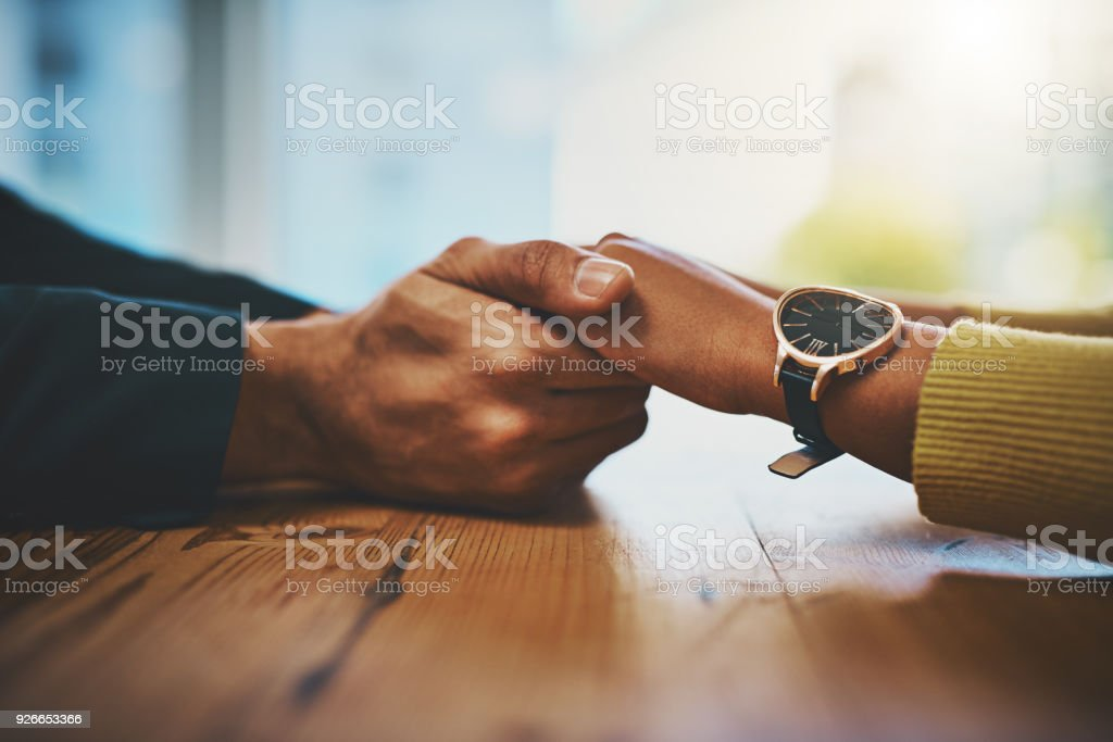 You're in a safe space space now stock photo