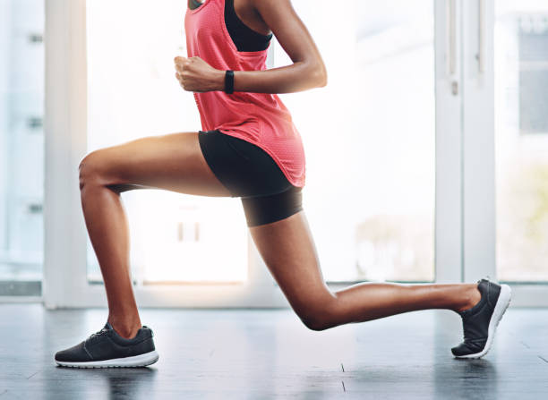 you're in control of your body - lunge stock photos and pictures