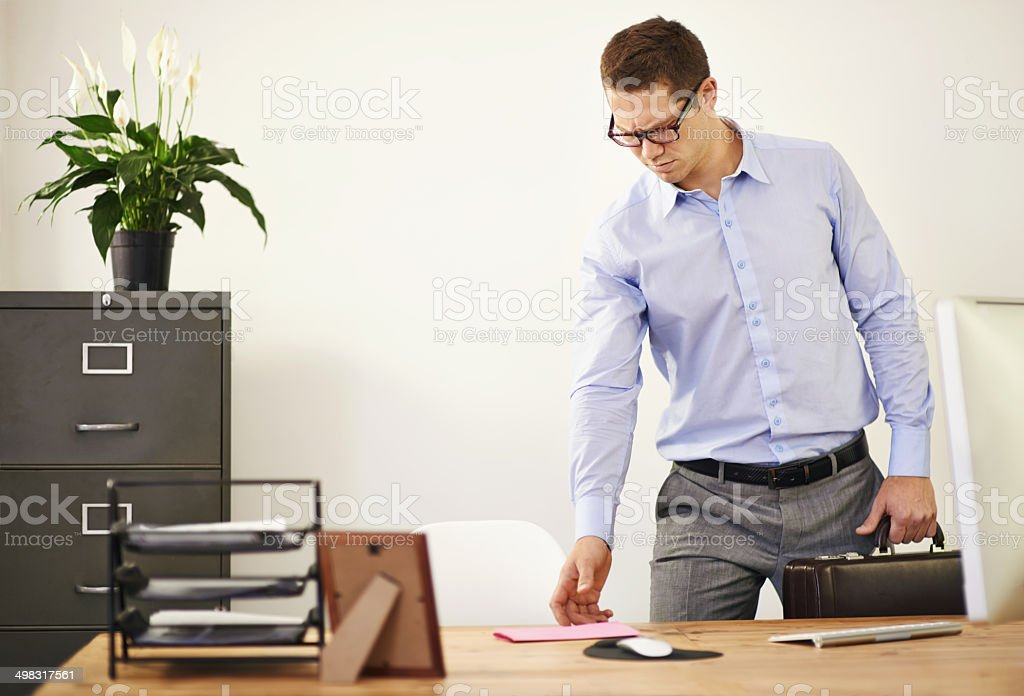 You're in for a bad day stock photo