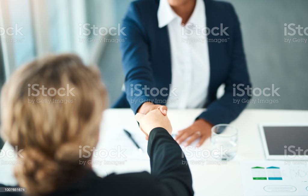 You're in good hands stock photo