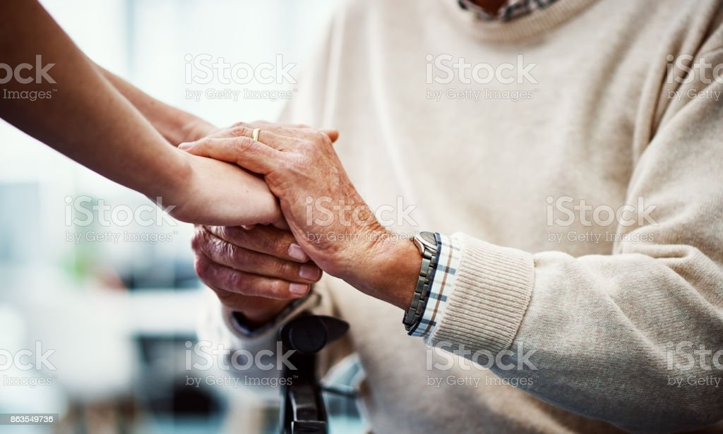 You're in my hands now stock photo