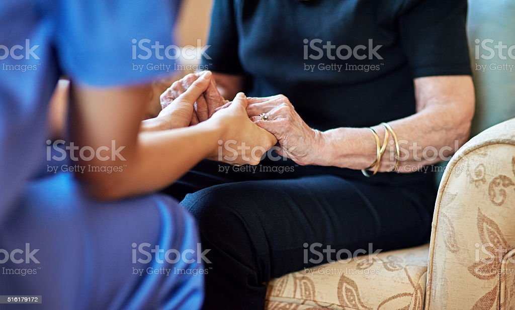 You're in safe hands now stock photo