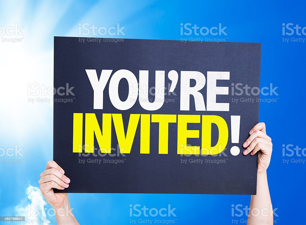 You're Invited! card with a beautiful day stock photo