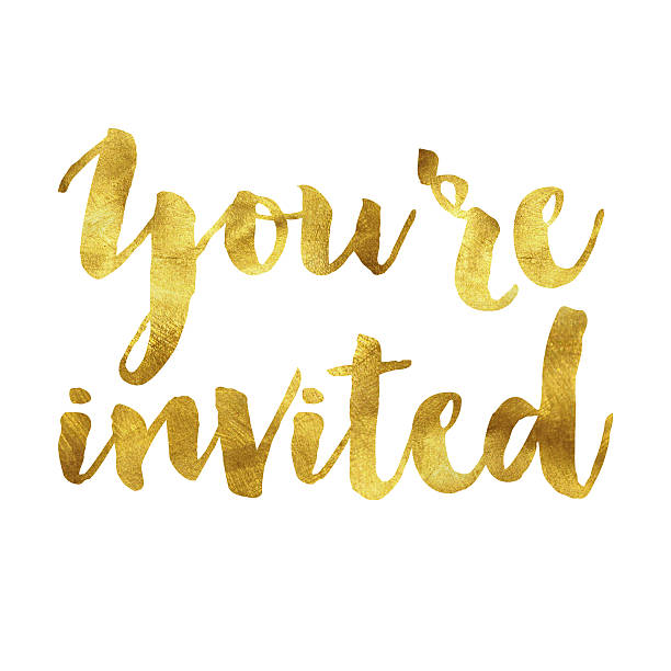 Royalty free invitation pictures images and stock photos istock youre invited gold foil message stock photo stopboris Gallery