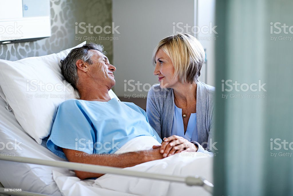 You're looking so much better today stock photo