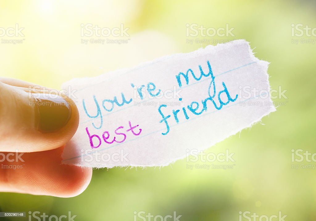 a note to my best friend