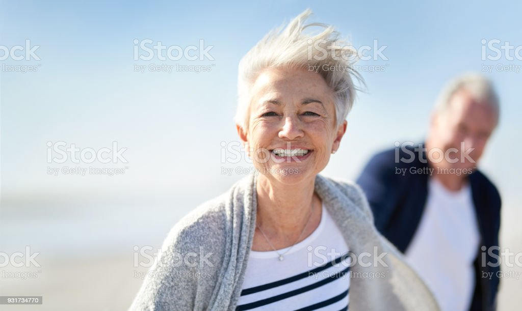 You're never too old to be young stock photo