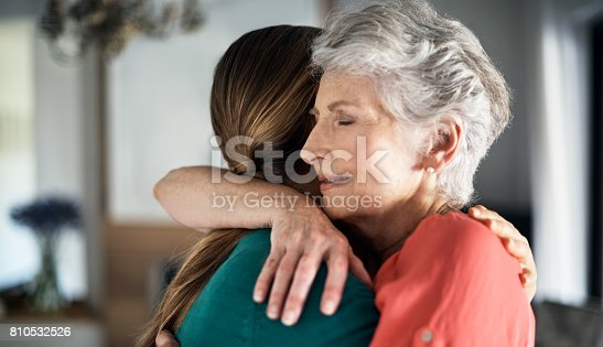 istock You're never too old to get a hug from mom 810532526