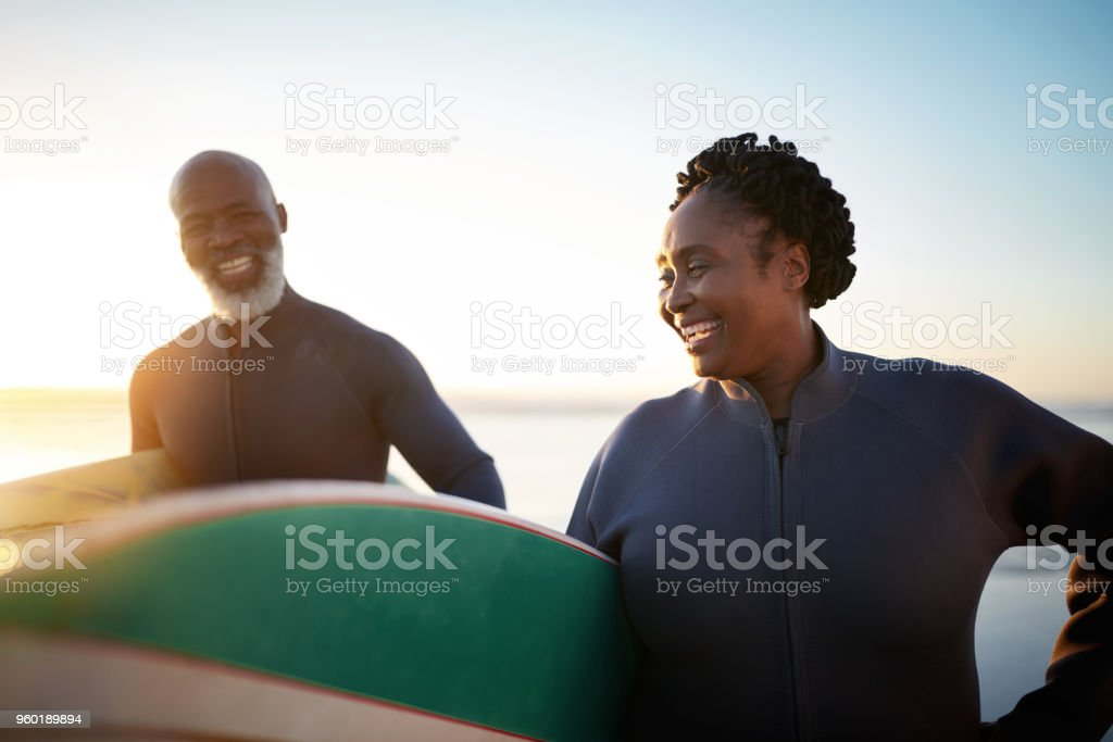 You're never too old to try out something new stock photo