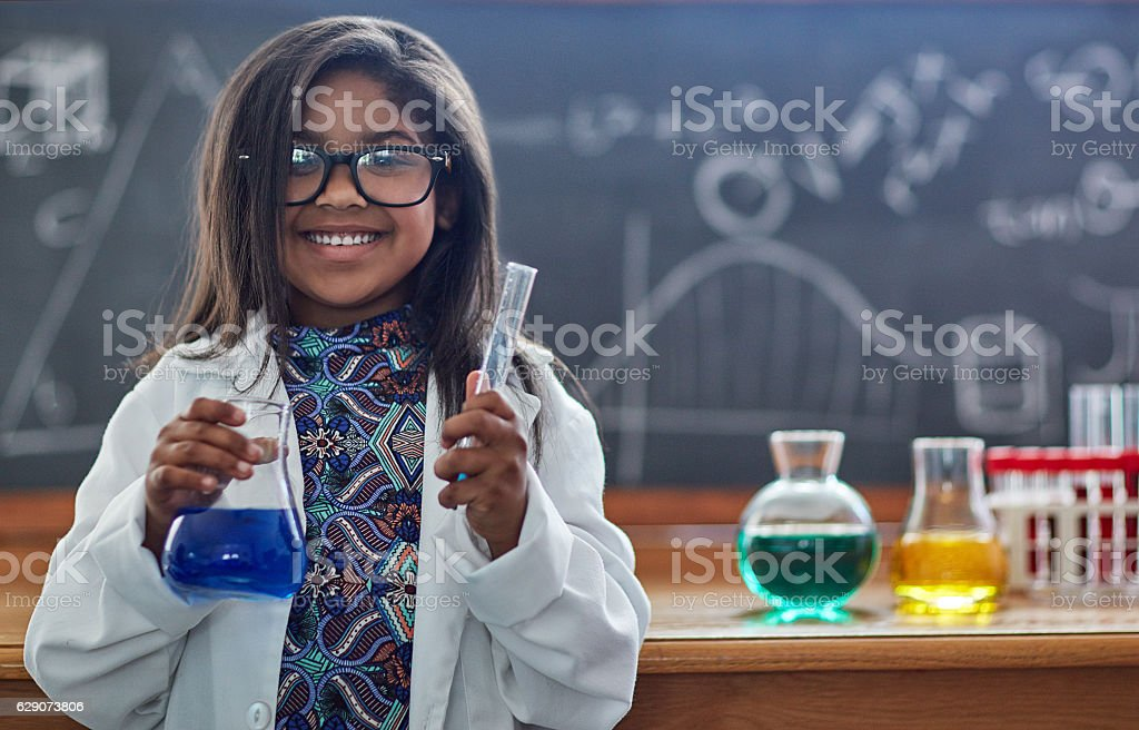 You're never too young to pursue a love for science stock photo