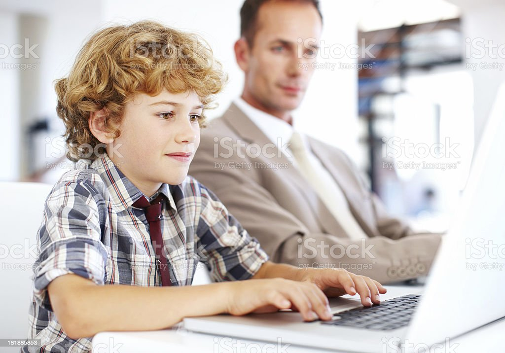 You're never too young to start your own business royalty-free stock photo