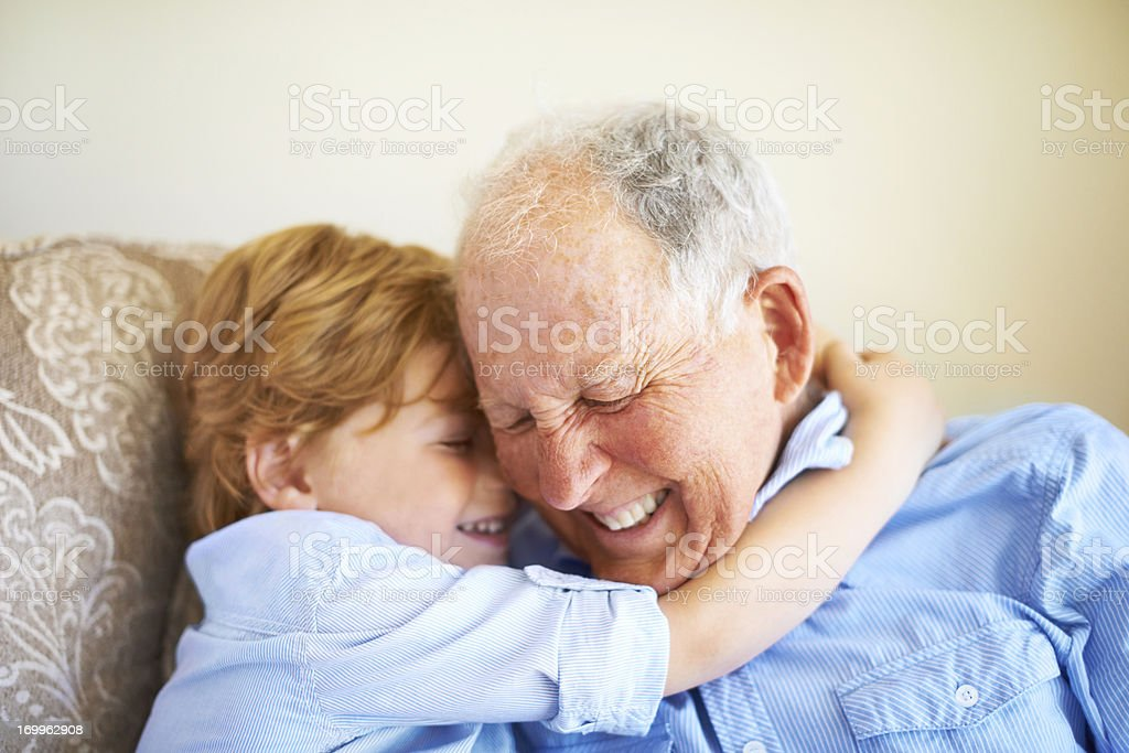 You're the best grandad stock photo