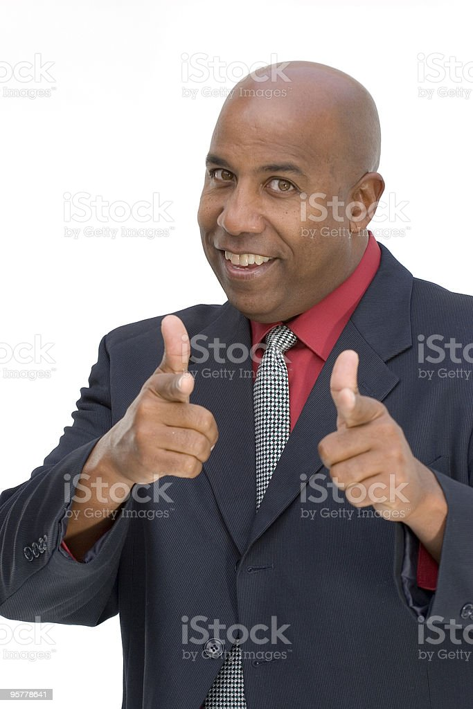 You're the man! royalty-free stock photo