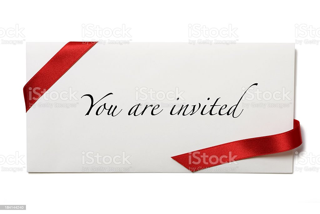 Your're Invited stock photo