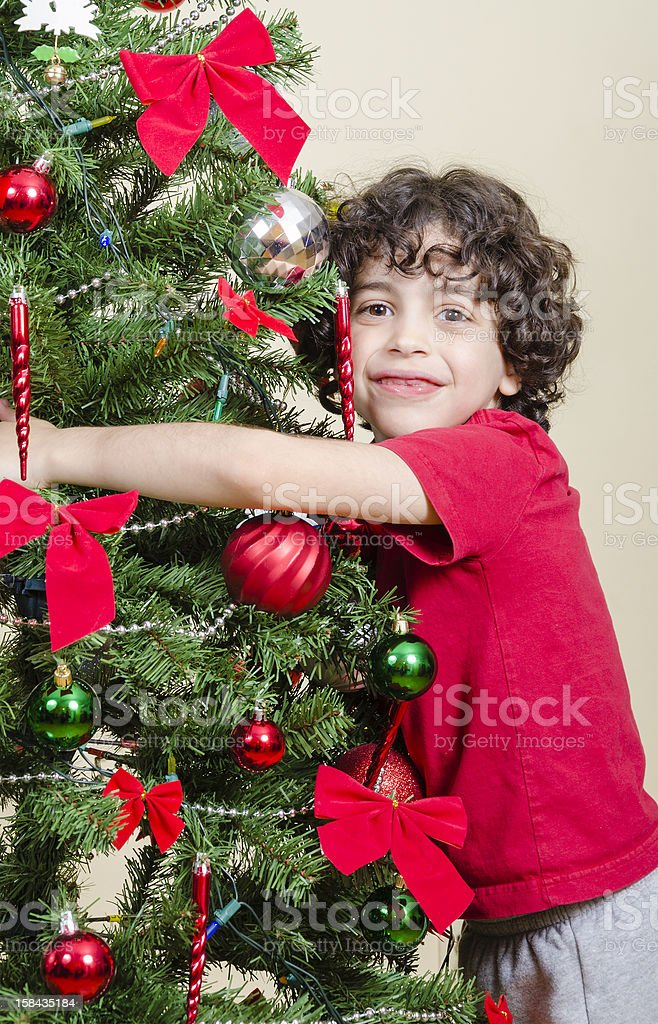 Youth and Christmas royalty-free stock photo