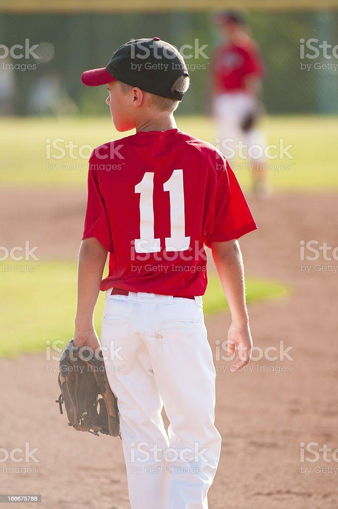 Youth baseball player stock photo