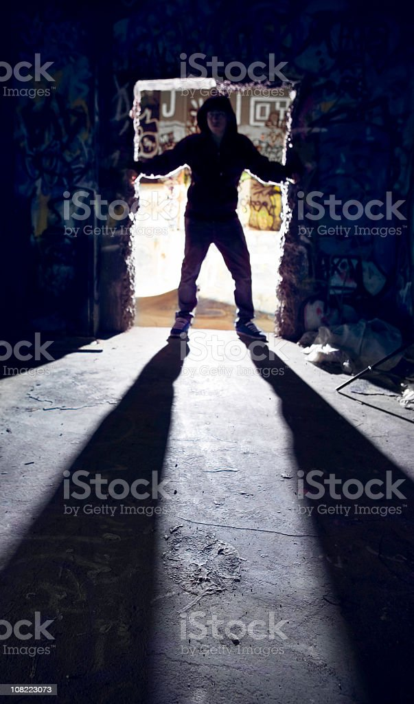 Youth Culture Doorway Shadow Concept royalty-free stock photo