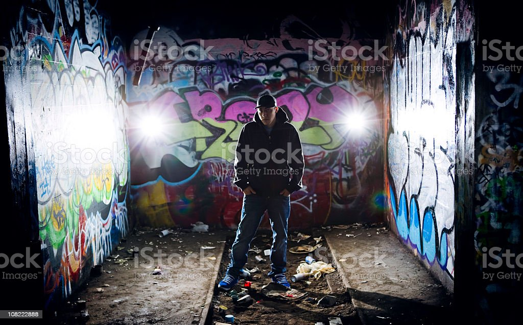 Youth Culture Graffiti Series with Copy Space royalty-free stock photo