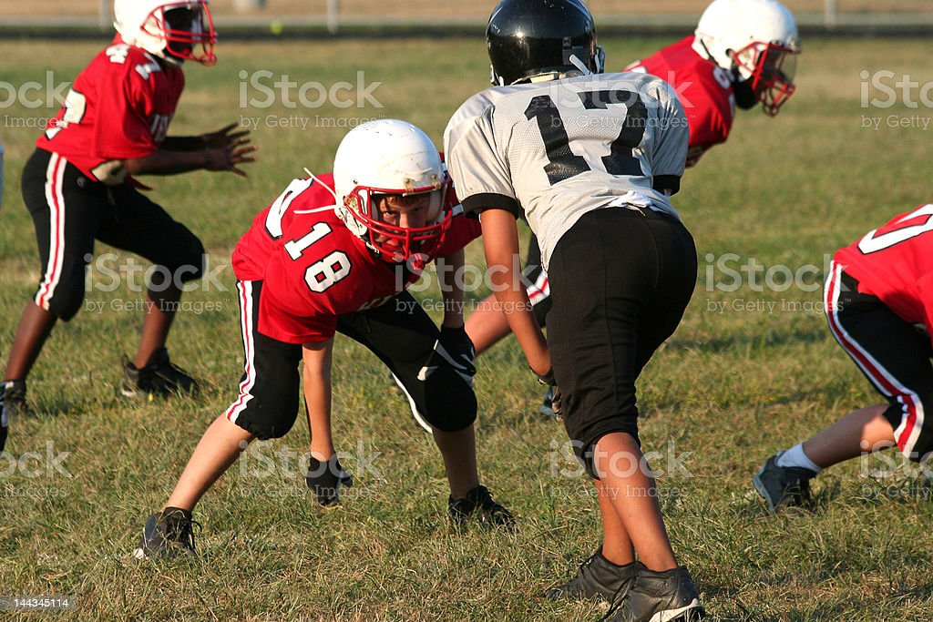 Youth football player stock photo