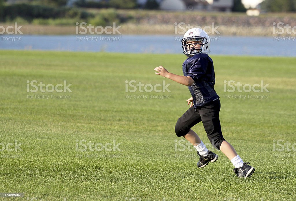 Youth Football Receiver stock photo