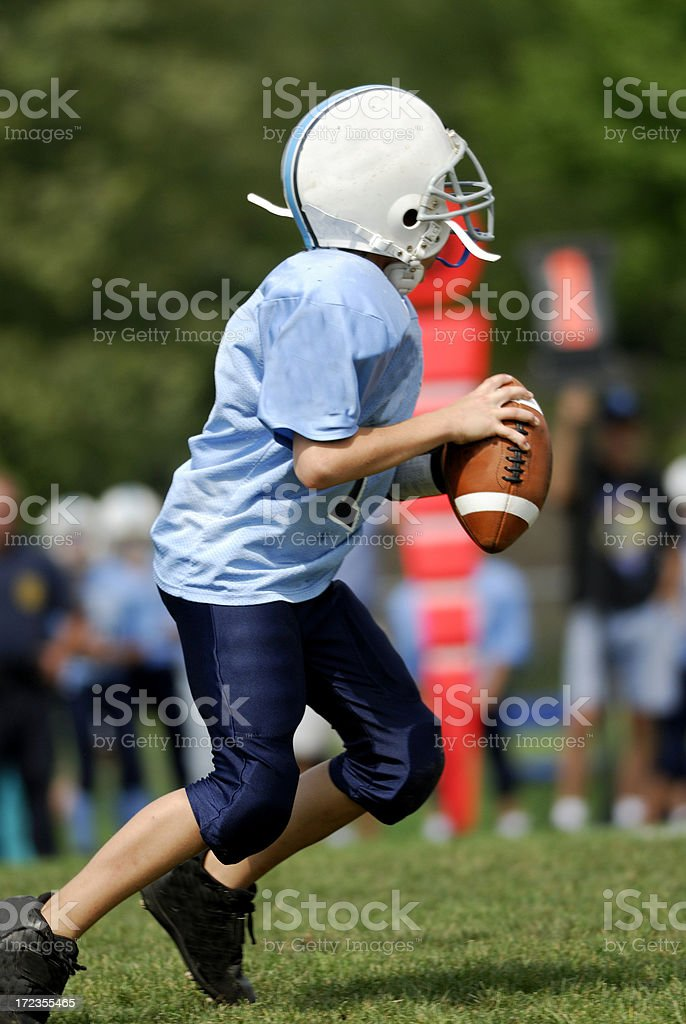 Youth Football, young quarterback. royalty-free stock photo