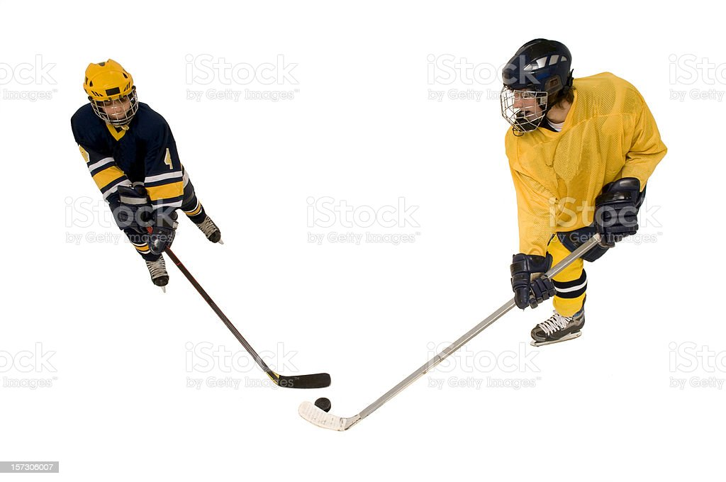 youth hockey action royalty-free stock photo